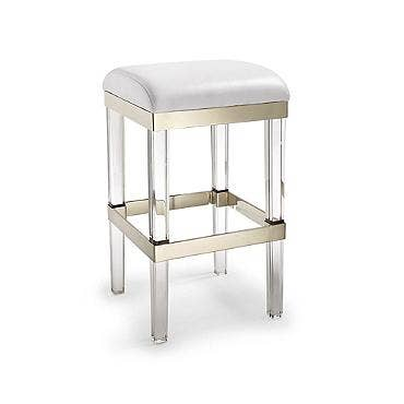 frontgate fulham acrylic bar stool clear