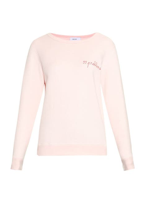 Product, Sleeve, White, Neck, Peach, Active shirt, Long-sleeved t-shirt, Sweater, Sweatshirt,