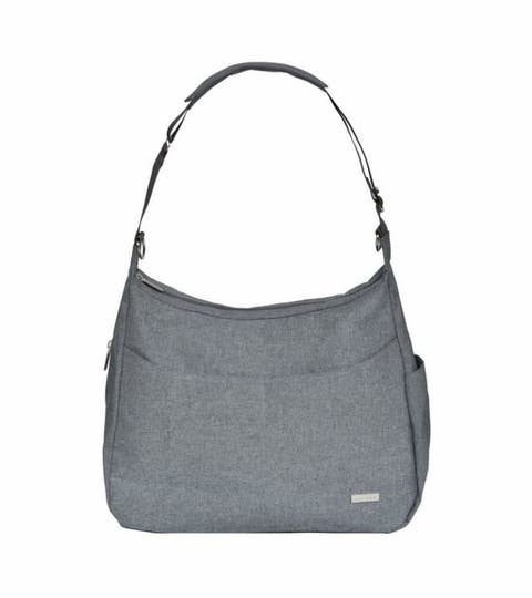 jj cole collection linden diaper bag in heather grey