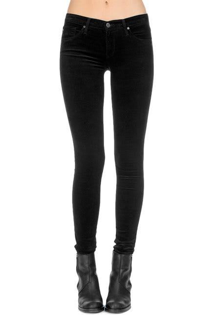 ag velvet leggings in super black