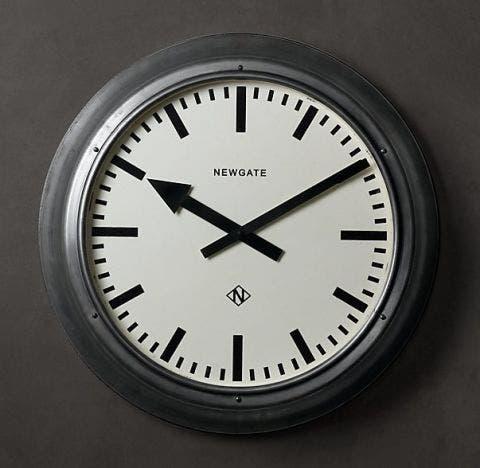 restoration hardware metropolitan wall clock