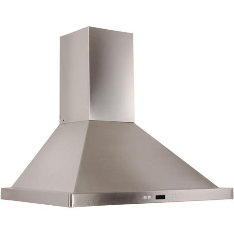 "<p><strong><em>$449, <a href=""https://www.decorplanet.com/products/cavaliere-euro-sv218b2-30-stainless-steel-wall-mount-range-hood/sv218b2-30.html?adpos=1o2&creative=80750037627&device=c&matchtype=&network=g&gclid=CIO27KvKuMkCFYb3HwodOecEjQ "">decorplanet.com</a></em></strong></p><p><strong> Best for Versatility </strong><br></p><p>Although this range hood ventilates externally by default, it can be quickly converted to recirculate air. Plus, enjoy full control — just pick from up to six speed settings by pressing the touch-sensitive keypad. </p>"