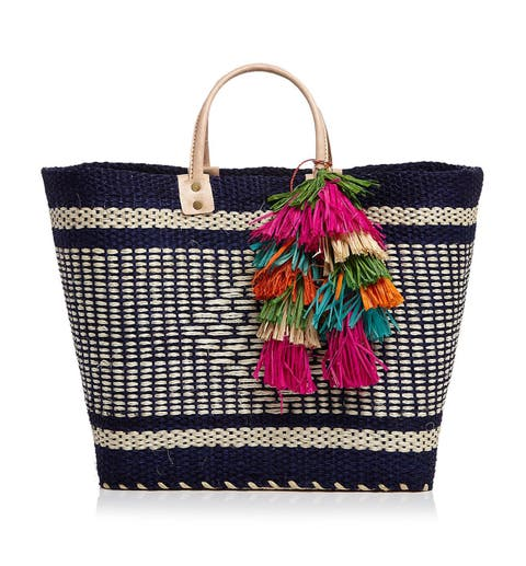 mar y sol ibiza tote bag in navy