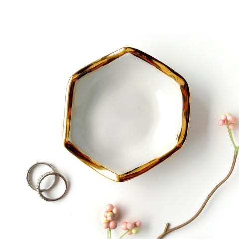 fab hexagon jewelry dish