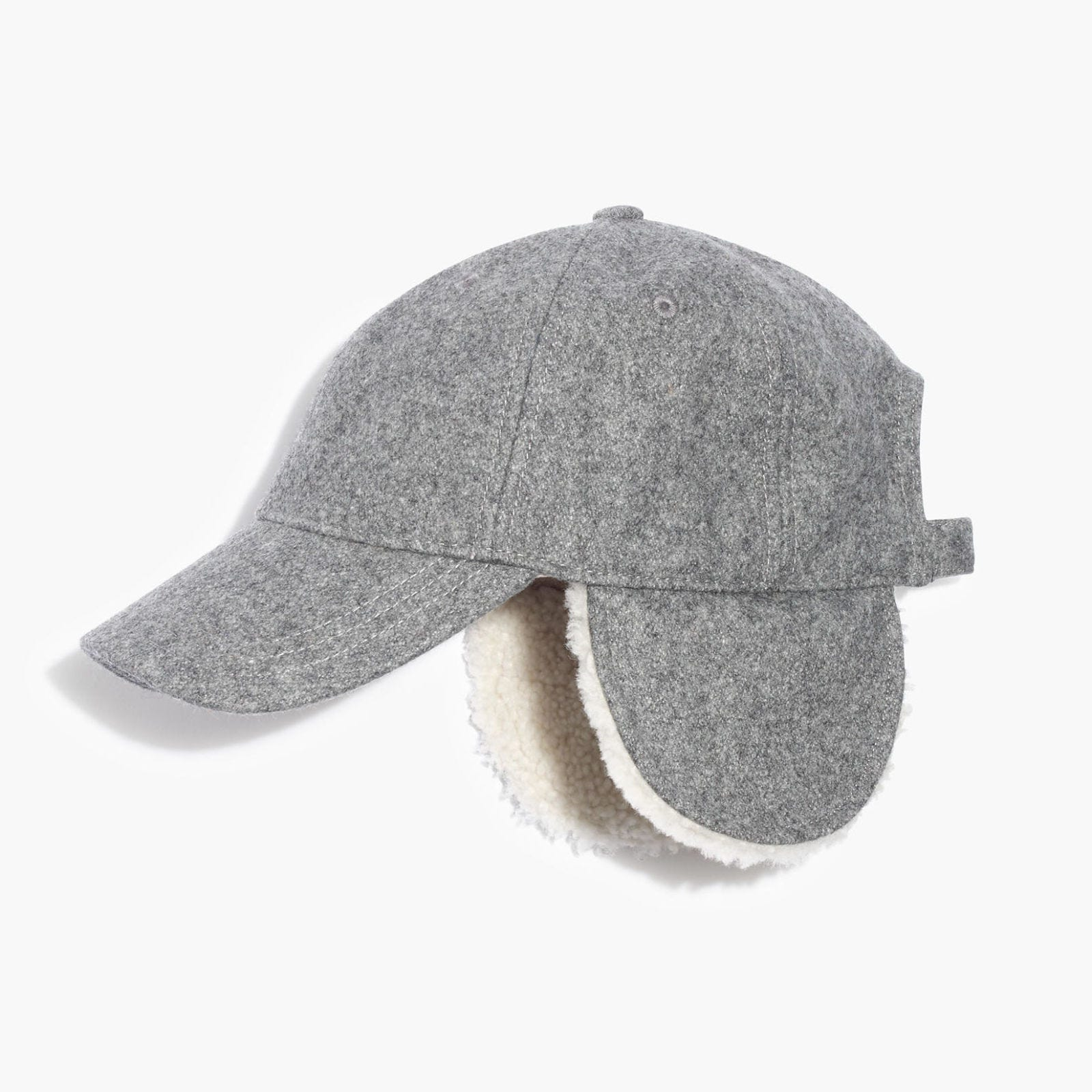madewell baseball trapper cap in gray