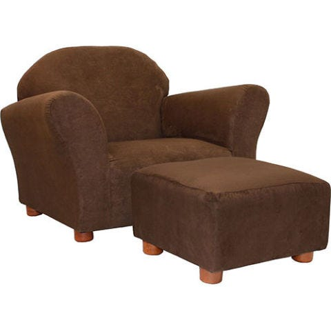 keet roundy chair and ottoman brown microsuede