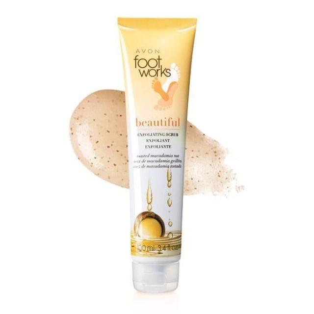 Avon Foot Works Beautiful Toasted Macadamia Nut Exfoliating Scrub