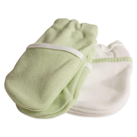 safety 1st no scratch newborn mittens in green