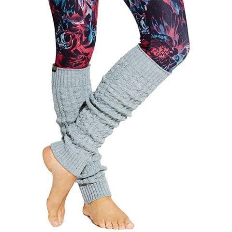 CALIA Women's Cable Leg Warmers