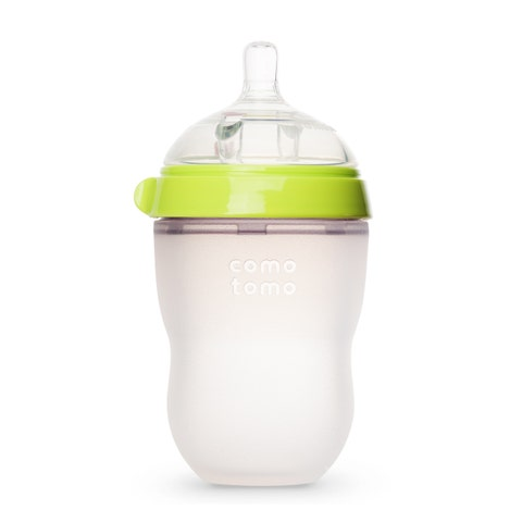comotomo natural feel baby bottle green 8 ounces