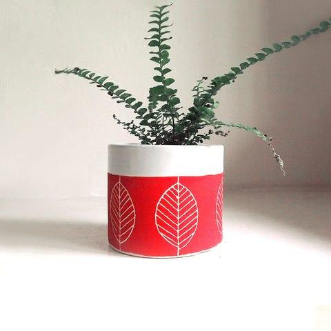 fab jen e ceramics ceramic leaf planter cup