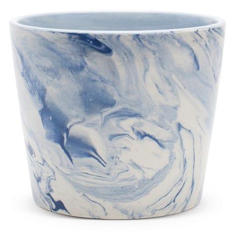 Furbish blue swirl planter