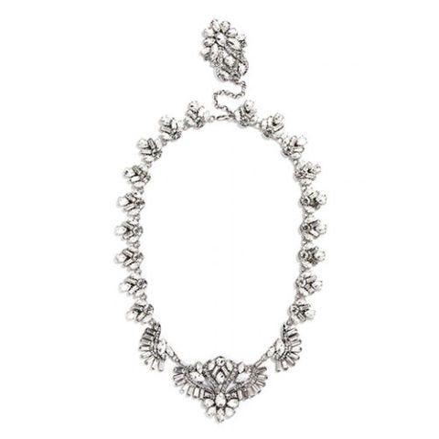 baublebar x olivia palermo lotus bib crystal necklace