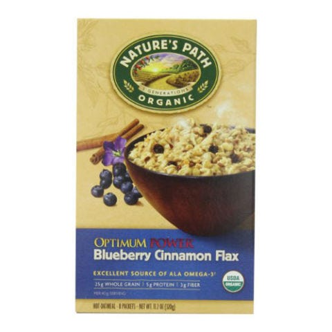 Nature's Path Organic Optimum Power Blueberry Cinnamon Flax Instant Hot Oatmeal