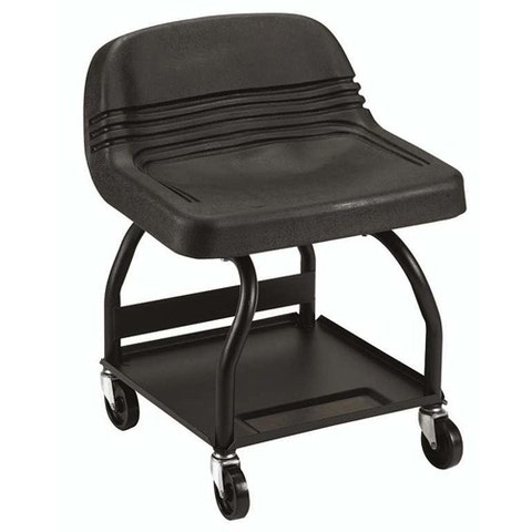 """<p><strong><em>$100, <a href=""""http://www.sears.com/craftsman-creeper-seat-mechanics-high-rise/p-00951108000P?prdNo=2&blockNo=2&blockType=G2"""" target=""""_blank"""">sears.com</a></em></strong></p><p>Though significantly more expensive than our first option, this creeper seat from Craftsman earns points for its tubular construction and increased seat support. Unlike the u-shaped frame from the previous slide, it is less likely to bend or flex over time.</p>"""