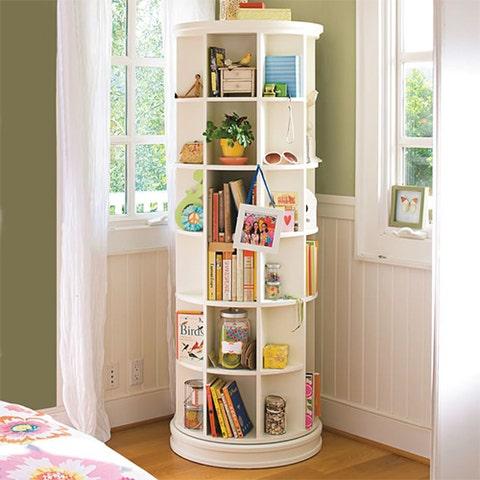 pbteen revolving bookcase white