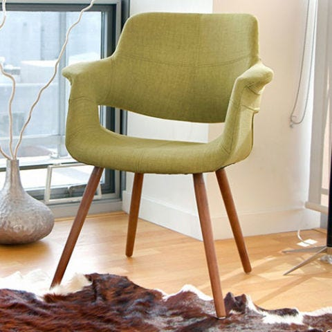 overstock Vintage Flair Mid century Modern Accent Chair
