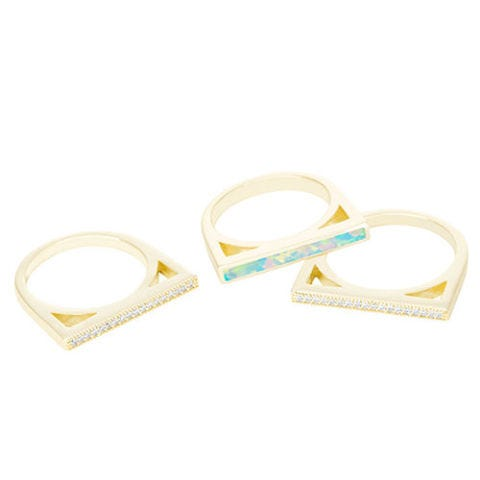 kendra scott stacking lucia ring set with kyocera opal and gold