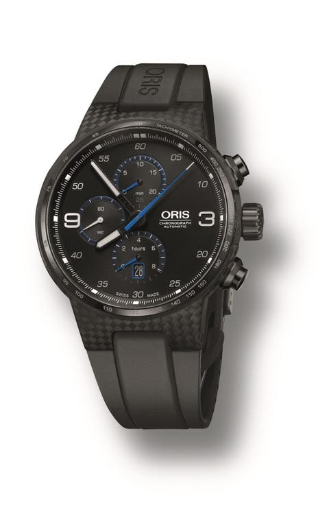 """<p><strong><em>$4,219, </em></strong><strong><em><a href=""""http://www.oris.ch/en/press/oris-williams-chronograph-carbon-fibre-extreme"""" target=""""_blank"""">oris.ch</a></em><a href=""""http://www.oris.ch/en/press/oris-williams-chronograph-carbon-fibre-extreme"""" target=""""_blank""""></a></strong><a href=""""http://www.oris.ch/en/press/oris-williams-chronograph-carbon-fibre-extreme"""" target=""""_blank""""></a></p><p>Given Oris' longstanding relationship with the Williams F1 team, it's of little surprise that a carbon fiber watch case was going to wind up on their to-do list eventually. Their current <a href=""""http://www.tourneau.com/watches/oris/tt1-williams-f1-team-day-date-735.7651.4765.ls-ORI0104542.html"""" target=""""_blank"""">TT1 Williams Day Date model</a> is a touch more under-the-radar,  but the lightweight carbon piece is still properly understated with its subtle blue accents. According to Oris, its lightweight case weighs little over 7 grams, making it supremely light on the wrist. Given its level of technical prowess, its sticker price seems a relative bargain when compared to the competition. </p><p><strong>More: </strong><a href=""""http://www.bestproducts.com/mens-style/g1330/baselworld-cool-watches-for-men/"""" target=""""_blank"""">The Coolest New Men's Watches Previewed At Baselworld 2016</a><br></p>"""