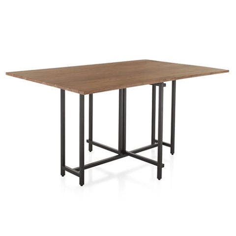Crate & Barrel Origami Drop Leaf Rectangular Dining Table