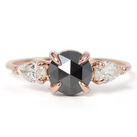 catbird nyc mathilde the swan black diamond engagement ring
