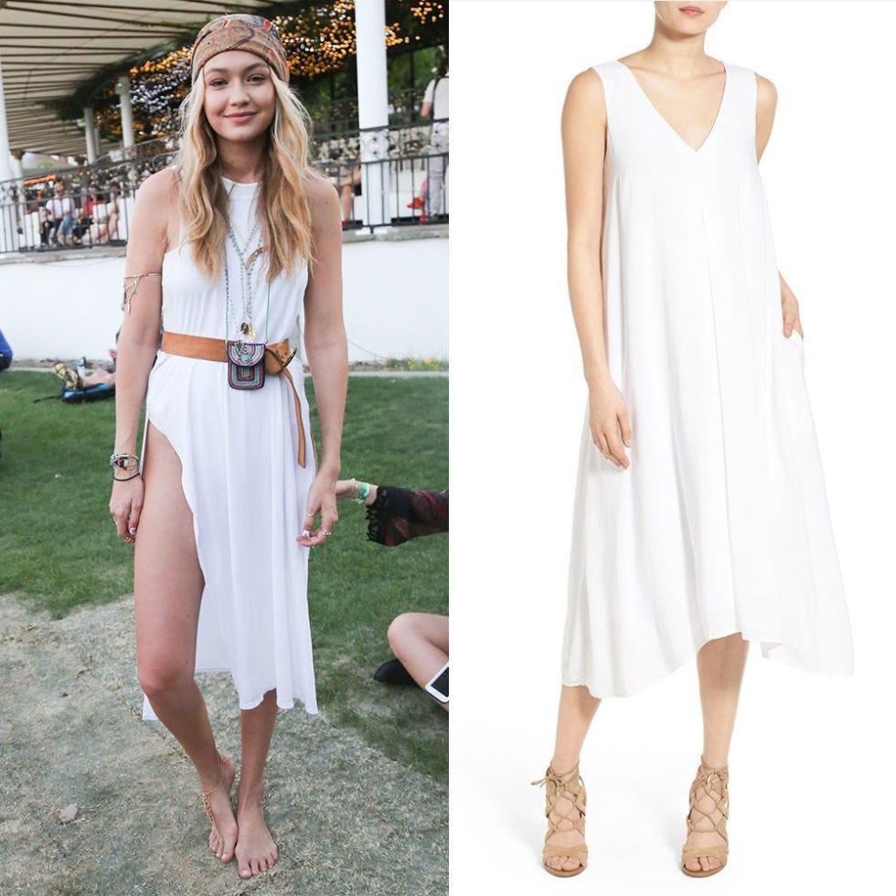 gigi hadid coachella fashion white dress