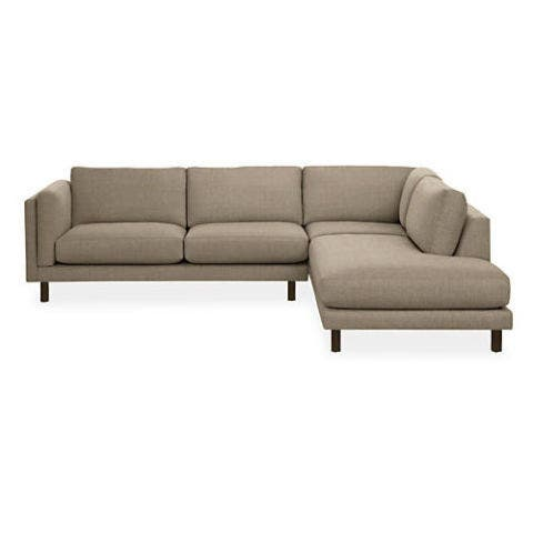 """<p><strong><em>from $3,997, </em></strong><strong><em><a href=""""http://www.roomandboard.com/catalog/living/sectionals/holden-sectionals"""" target=""""_blank"""">roomandboard.com</a></em><a href=""""http://www.roomandboard.com/catalog/living/sectionals/york-sectionals"""" target=""""_blank""""></a></strong><a href=""""http://www.roomandboard.com/catalog/living/sectionals/york-sectionals"""" target=""""_blank""""></a> </p><p>Users love this sectional for its low profile and deep, cushy seating. Though sectionals can sometimes feel clunky in a space, this one's open-chaise style reads as lighter and less imposing.</p>"""