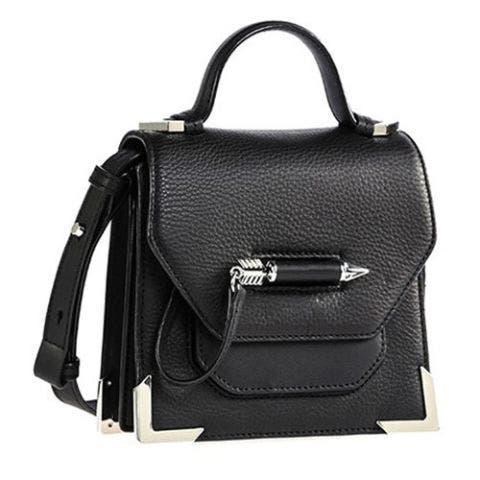mackage mini black leather crossbody bag