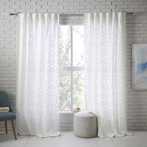 West Elm Sheer Lattice Curtain