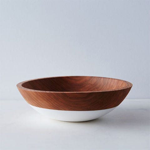 Hand-Dipped Cherry Wood Bowl