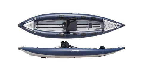 """<p><em><strong>$800 </strong></em><a href=""""https://www.rei.com/product/100416/aquaglide-blackfoot-hb-angler-sl-inflatable-kayak"""" target=""""_blank"""" class=""""slide-buy--button""""><em><strong>BUY NOW</strong></em></a></p><p>Inflatable and durable, this sit-in kayak will keep all your fishing gear organized and dry on the water. An extra wide design and a high-pressure, hard-bottom floor provide stability on choppy waters and durability to prevent ruptures in case you snag your hook on the sidewall. Best of all, at the end of the day, this kayak can deflate and pack  into the included carrying backpack so you can throw it in the trunk next to that <a href=""""http://www.bestproducts.com/appliances/small/g739/beverage-coolers-at-every-price/"""" target=""""_blank"""">cooler</a> full of freshly caught bass.    <br></p>"""