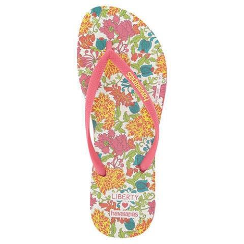 havaianas slim liberty flip flops in pink