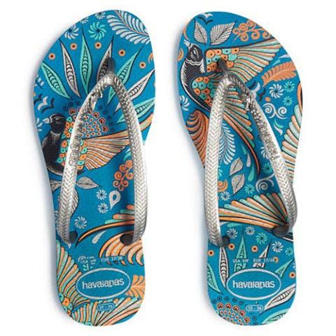 havaianas royal slim turquoise flip flops