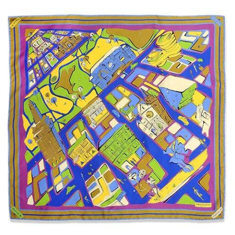 emilio pucci silk new york scarf