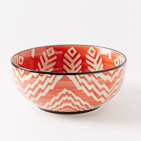 Folk Printed Serving Bowls