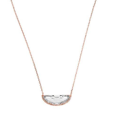 henri bendel luxe half moon pendant necklace in rose gold