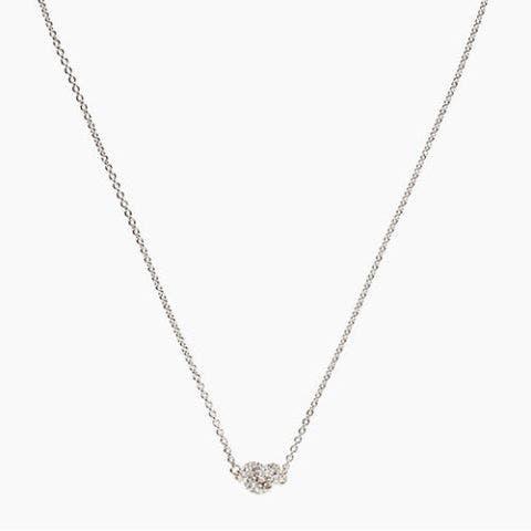 kate spade silver sailors knot pave pendant necklace