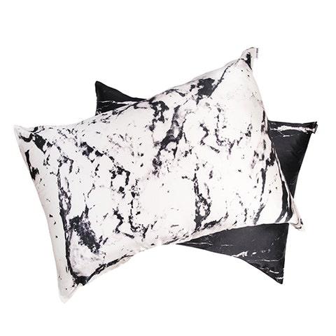 Black, Pillow, Throw pillow, Cushion, Furniture, Textile, Leaf, Black-and-white, Linens, Font,