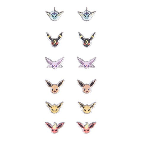 """<p><strong><em>$11</em></strong> <a href=""""http://www.hottopic.com/product/pokemon-eevee-evolutions-earrings-6-pair/10487414.html?cgid=pop-culture-shop-by-license-pokemon"""" target=""""_blank"""" class=""""slide-buy--button"""">BUY NOW</a></p><p>This pack comes with six pairs of earrings showing five of Eevee's eight eeveelutions. It includes Jolteon, Flareon, Umbreon, Vaporeon, and Espeon. </p>"""