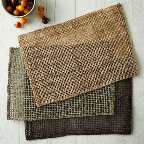 Fishnet Woven Placemat Set