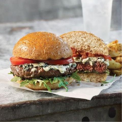 Bison Burgers Omaha Steaks camping food