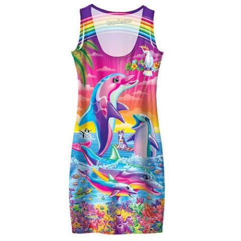 lisa frank dolphins tank dress