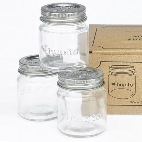 """Smiths Mini Mason Jar """"Chupito"""" Shot Glasses with Lids"""