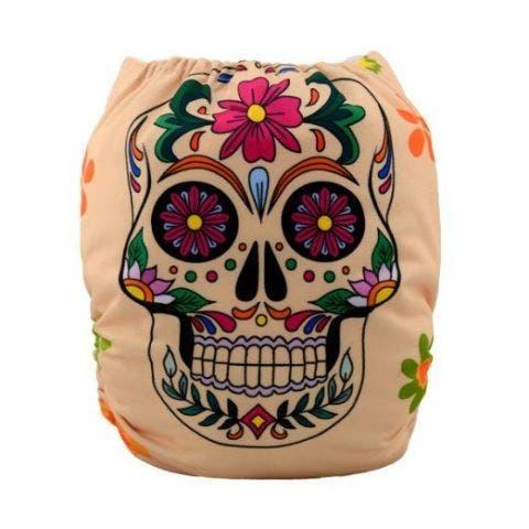 Sugar Skull Cloth Diaper
