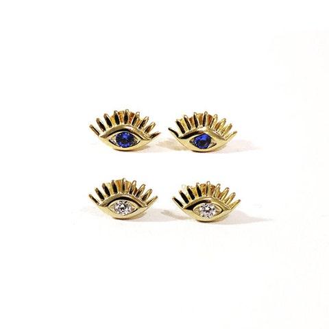 amandadeer Evil Eye Stud Earrings