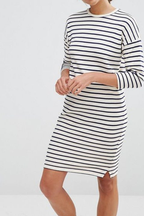 Native Youth Cocoon Stripe Dress