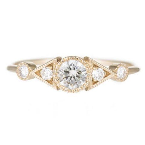 jennie kwon diamond duo deco spear gold ring