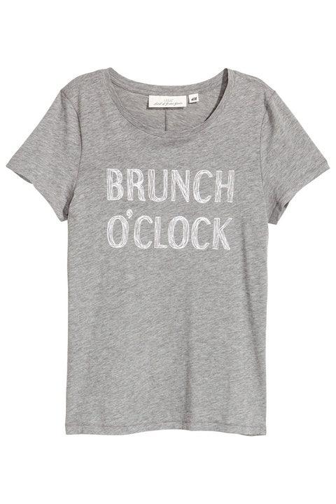 h&m gray brunch t-shirt
