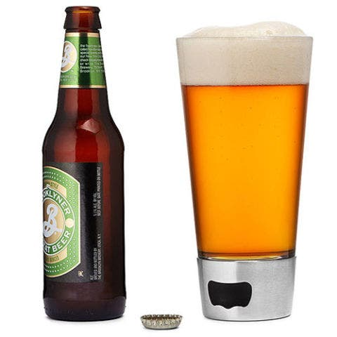 Beer Opening Glass