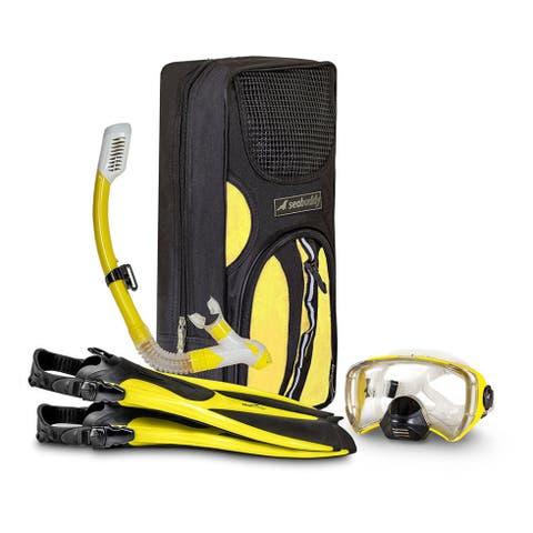 SealBuddy FIJI Panoramic Snorkel set with travel bag
